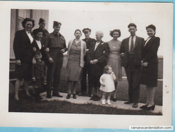 family of late Michael Hugh Crosby-- circa 1945