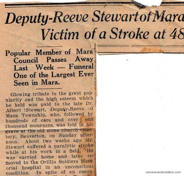 Reputy Reeve Stewart #1