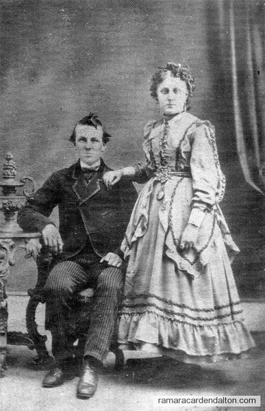 1872 - William W. Hepinstall-1848-1919, His Wife, Alice M. Burleigh, 1857-1946
