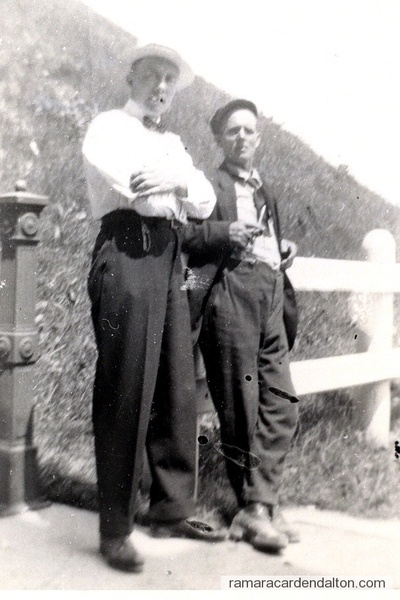 Jack Mundie (lft) and Fred Binsted on 12th of July in Peterborough-c. 1910