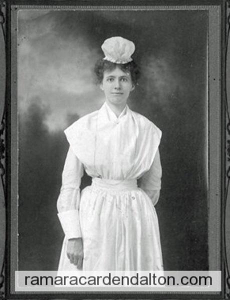 Violet Ann Holmes, Nurse circa, 1908