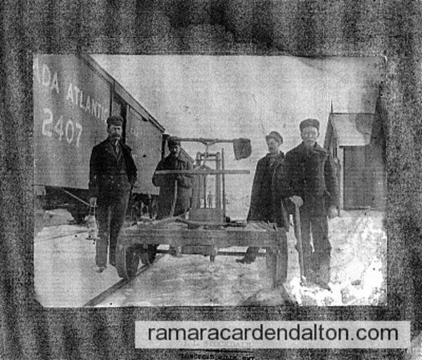Hugh Vincent Corrigan, (2nd on left) -Uptergrove RR Station