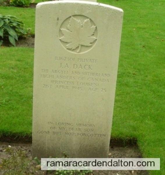 Private John Albert DACK- Holten, Netherlands