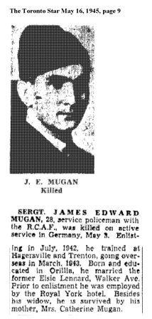 Sergeant James Edward Aloysious MUGAN, K.I.A.