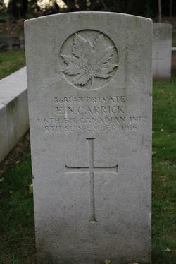 Pte. Ernest CARRICK- Kensal Green Cemetery, London, England
