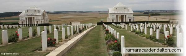 A.CURRAN- Villers-Bretonneux Cemetery, Somme, France
