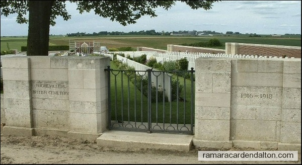 Charles A. GRAY / Puchevillers British Cemetry, Somme, France