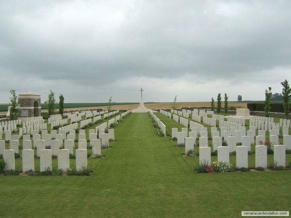 Lt. James I. McCORKELL /Bouchoir New Brititish Cemetery, Somme, France
