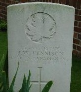 James William TENNISON- Gravemarker, Canada Cemetry-Tilloy-les-Cambrai, France