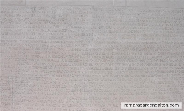 Thomas Black, Vimy Memorial,  (names 11.000 without known graves)