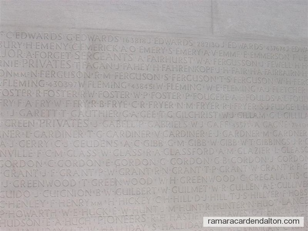 Percy Edwards, Vimy Memorial, France