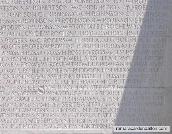 Sgt. Fred Stillman, M.M. - Vimy Memorial
