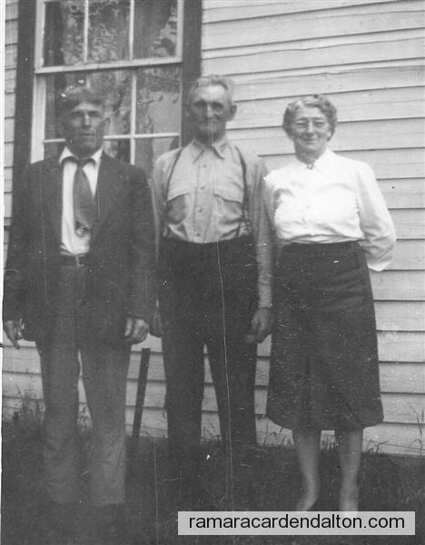Ed,  John, & Nellie Lawrence