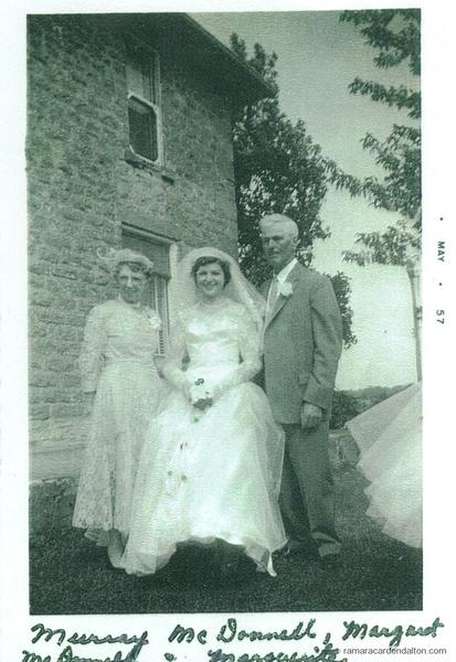 Margaret (Clarke), Marguerite, & Cornelius Murray McDONNELL, circa 1957