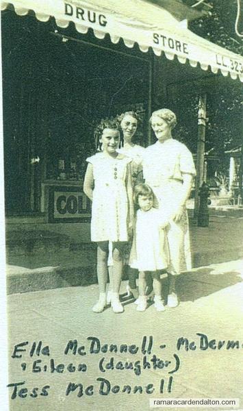 Katherine Ella (Mrs. Edmund McDermott), Aileen McDermott, Teresa 'Tess' McDONNELL