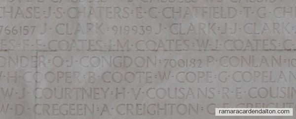 Pte. Orren John Congdon- Vimy Memorial