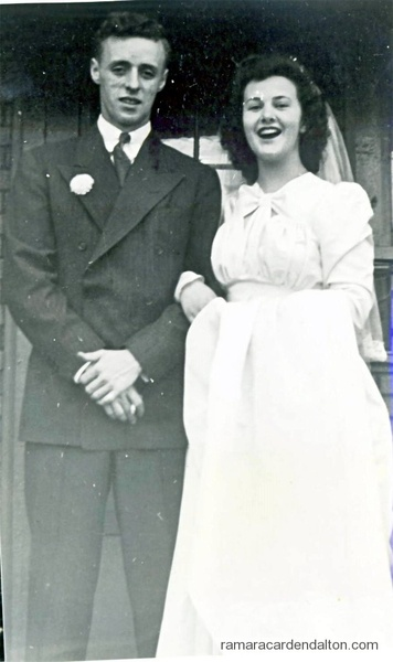 Joe Archambeau and his bride Admere-Irene (Toots) Patnaud-1942
