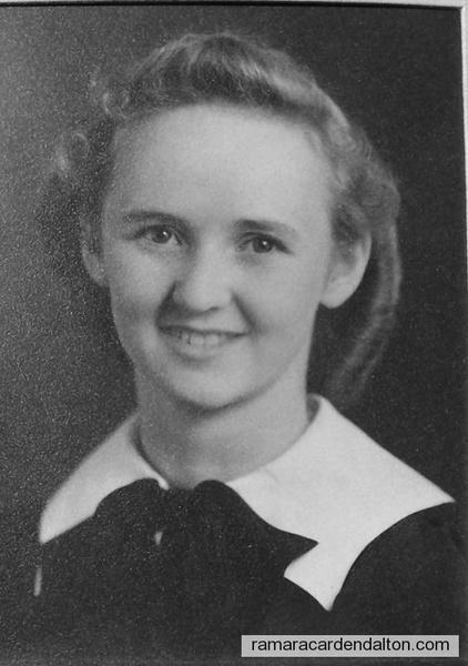 Grace Archambault-1940-High School Graduation-Calgary Alberta