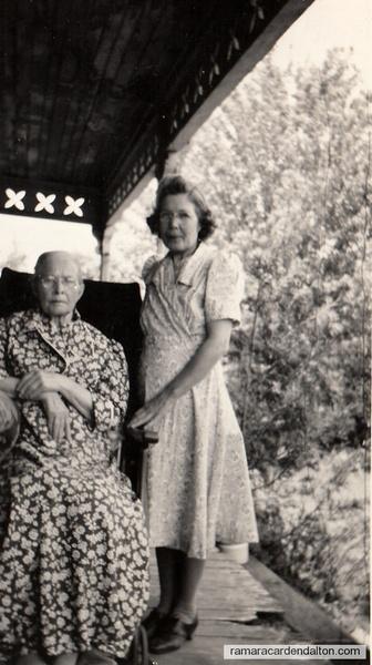 Winnifred Moffatt & mother Mary Moffatt (Mayock)