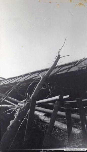 boxcar and debris