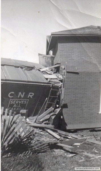 CNR boxcar in house