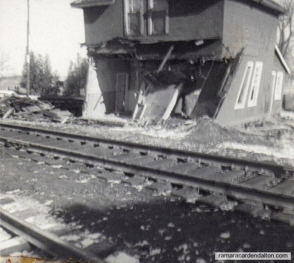 Udney Train Station derailment damage3