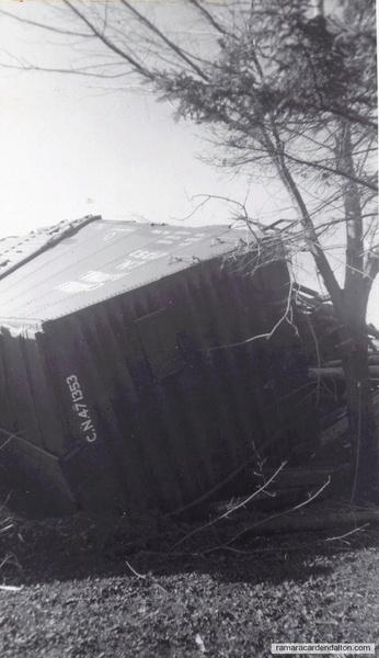 derailed boxcar