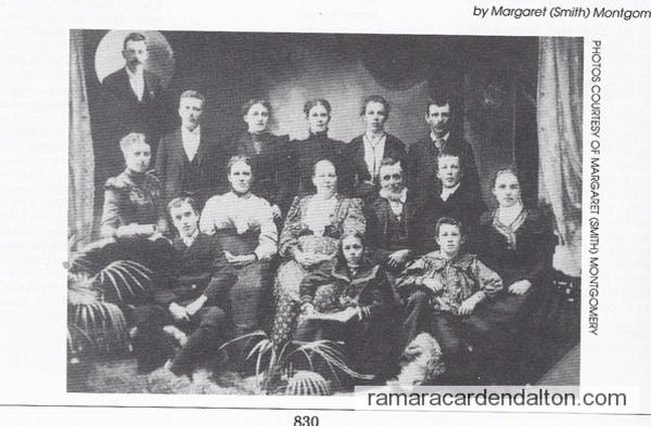 Family of William T Smith & his wife Hannah (nee Brown)
