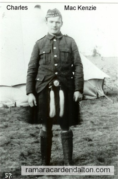 Pte. Charles Roy MacKenzie- 48th Highlander
