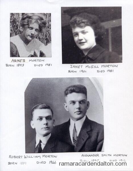 Mortons- Agnes, Janet, Robert & Alex