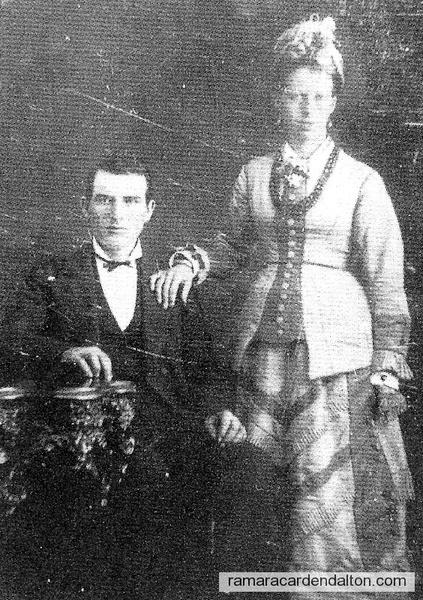 Wedding Photo of Patrick Clarke & Margaret Boulton Feb. 25, 1879
