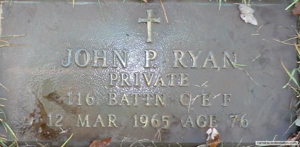 Pte. John RYAN
