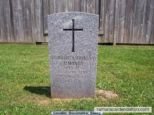 "Dorothea  ""Dorothy"" (Dobson) SIMONDS"