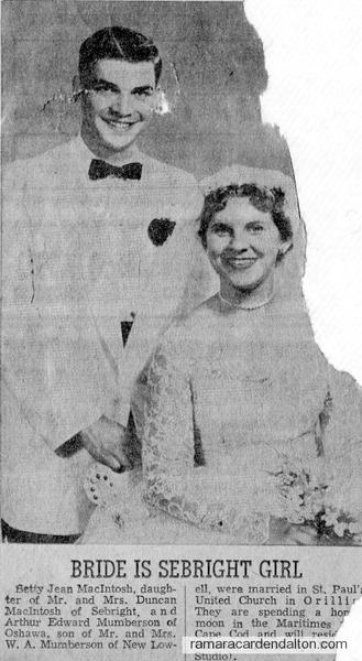 Betty Jen McIntosh & Arthur Edward Mumberson