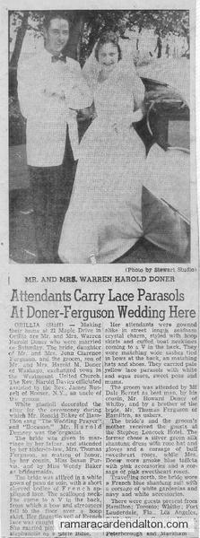 Doner-Ferguson Wedding