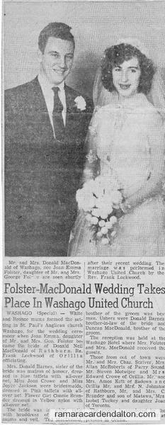 Folster-McDonald Wedding