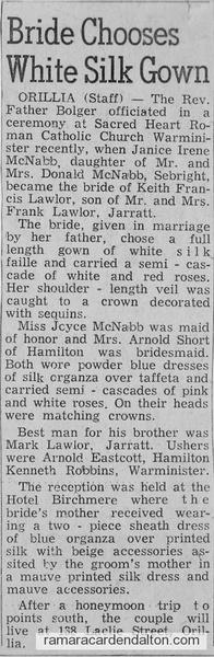 Janice McNabb Wedding