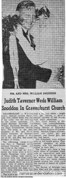 Judith Taverner & William Snoddon
