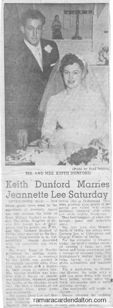 Keith & Jeanette Dunford Wedding