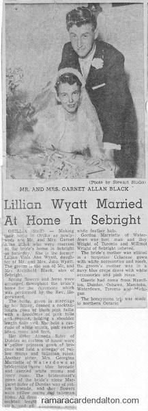 Lillian Wyatt Wedding