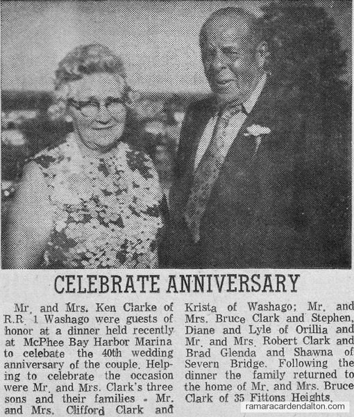 Mr. & Mrs. Ken Clark Anniversary