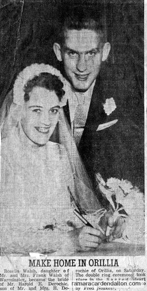 Rosella Walsh & Harold Derochie