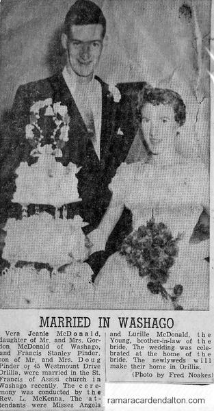 Vera McDonald & Francis Pinder