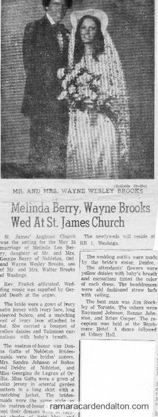 Wayne Brooks Wedding