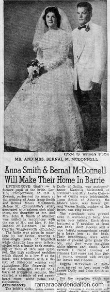 Anna Smith & Bernal McDonnell- 15 Aug. 1959
