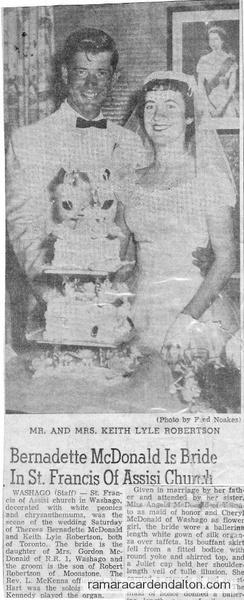 Bernadette McDonald Wedding