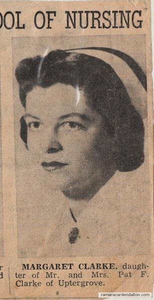 Margret Clarke--Daughter of Pat Clarke