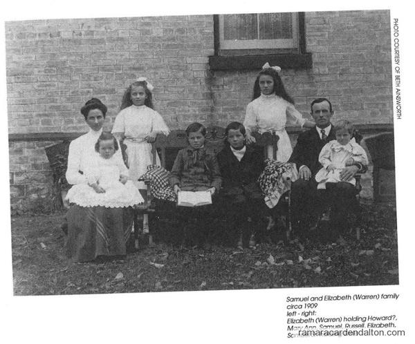 Family of Samuel & Elizabeth (Warren) AINSWORTH circa 1909