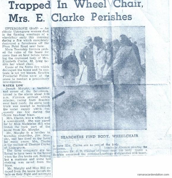 Death Of Mrs. Clarke