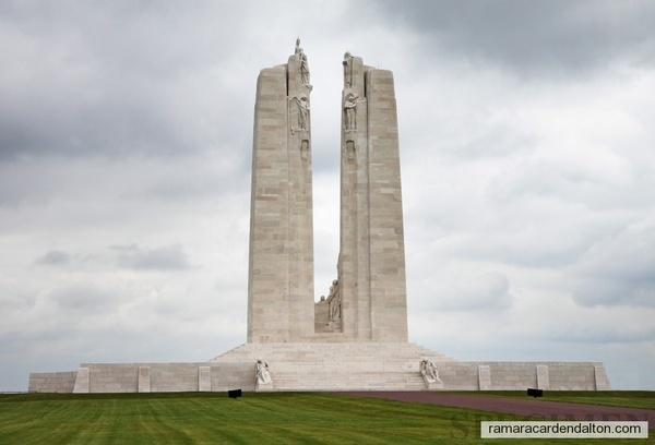 2-Vimy--60,000 Canadiians died in France -WW1--11 000 with no  marker